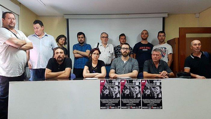 Zaragoza: sindicats i organitzacions socials mostren la seva solidaritat amb Verónica Landa