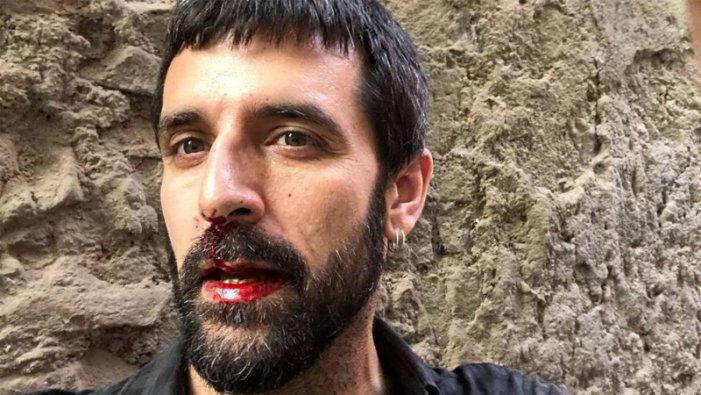 """Jordi Borràs agredit a Barcelona al crit de """"Visca Franco! Visca Espanya!"""""""