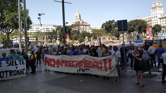 Crònica del tercer dia de vaga en Cotronic- Telefònica de Barcelona