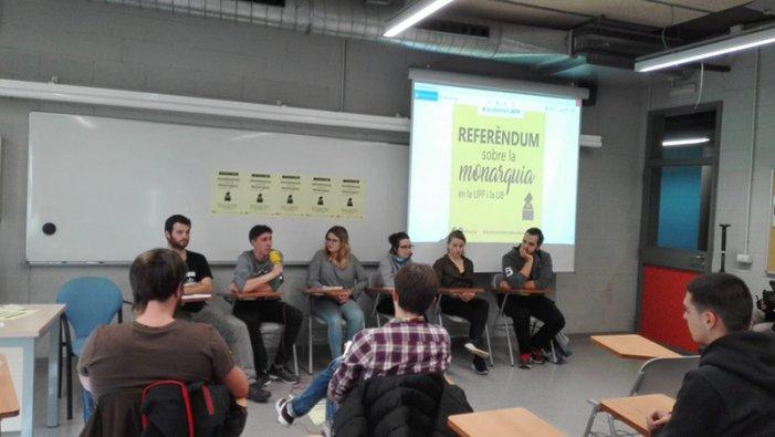 """Referèndums a les universitats de Catalunya: """"No volem a la monarquia, tal com es va demostrar l'1-O"""""""