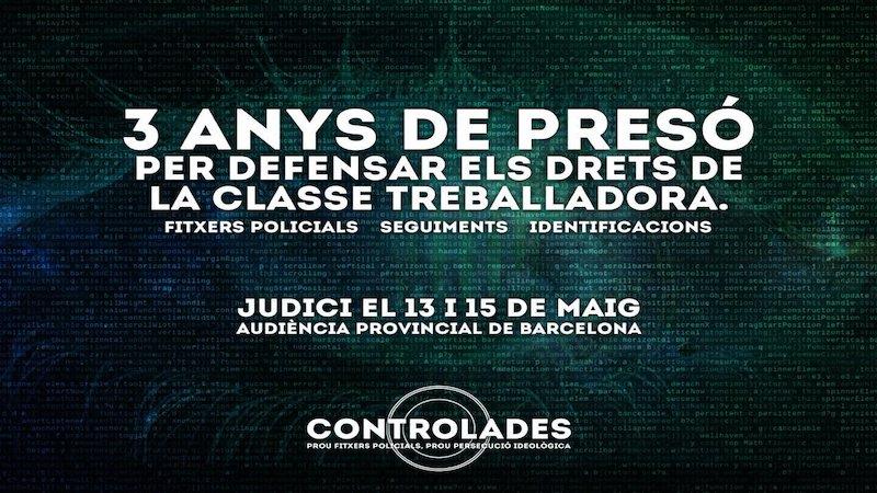 """""""Controlades"""": tres anys de presó a joves de l'esquerra independentista per manifestar-se"""