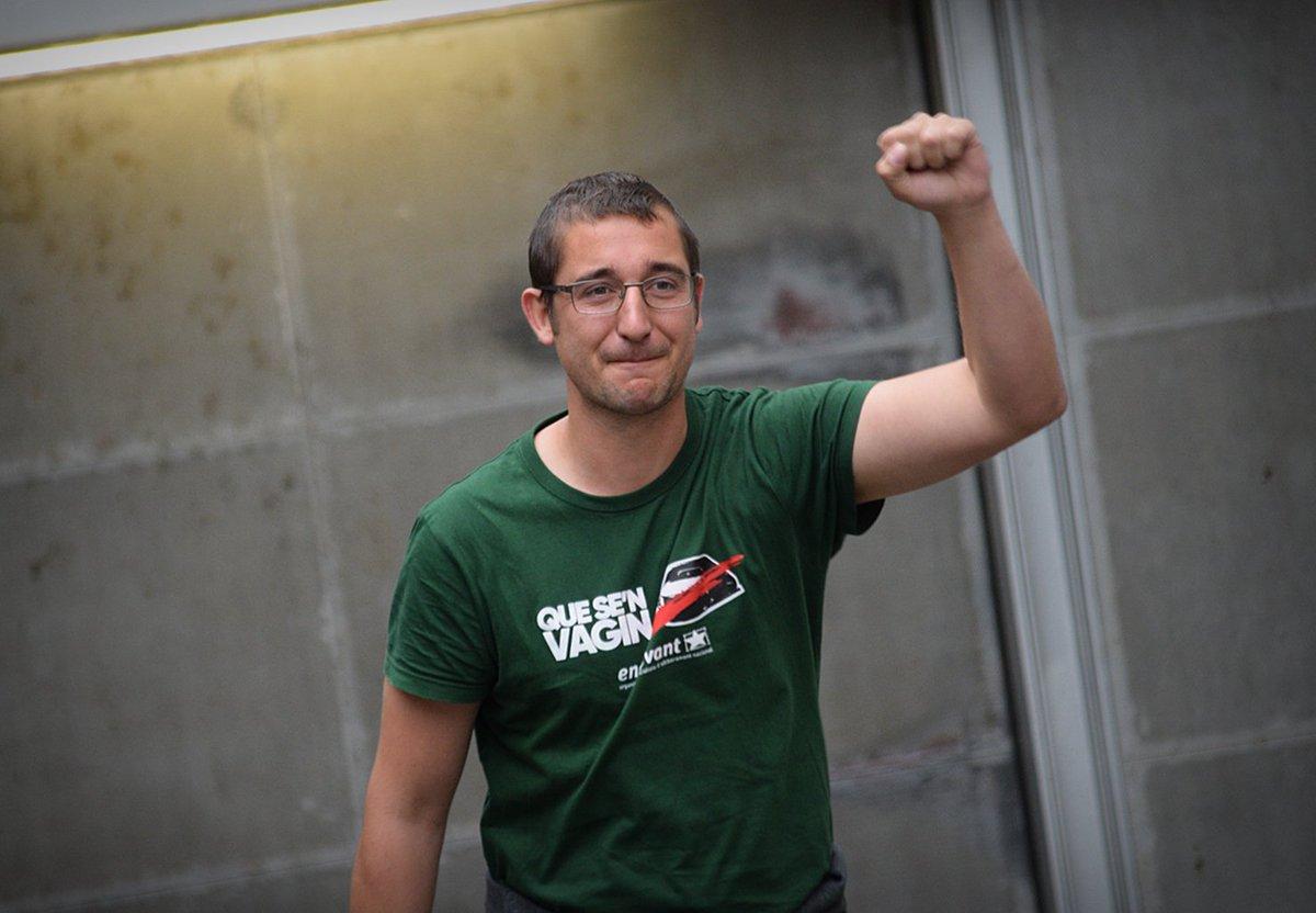 En llibertat l'Òscar, el jove independentista detingut ahir