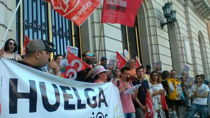 Rotund èxit de la segona vaga a QSR (Telepizza) Saragossa: 70-75% d'acatament
