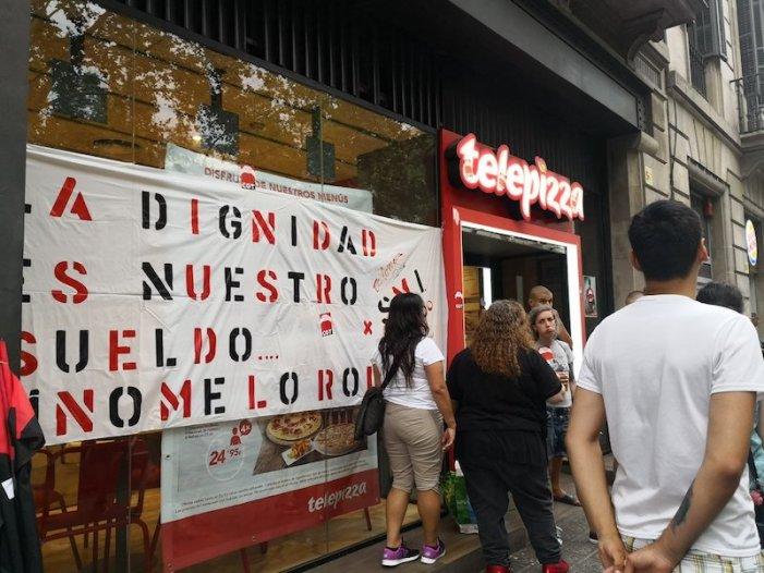 La vaga a Telepizza aconsegueix una pujada parcial: la lluita continua