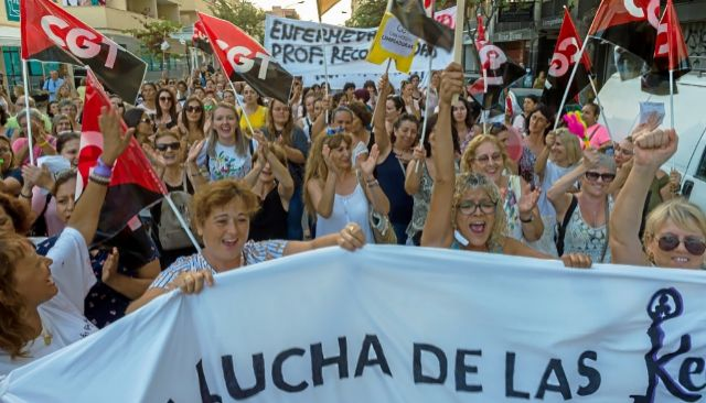 "Històrica vaga de Las Kellys a Eivissa al crit de ""No som de ferro"""
