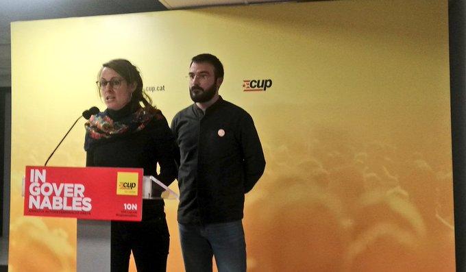 """CUP: """"No compartim el preacord entre PSOE i Unidas Podemos"""""""