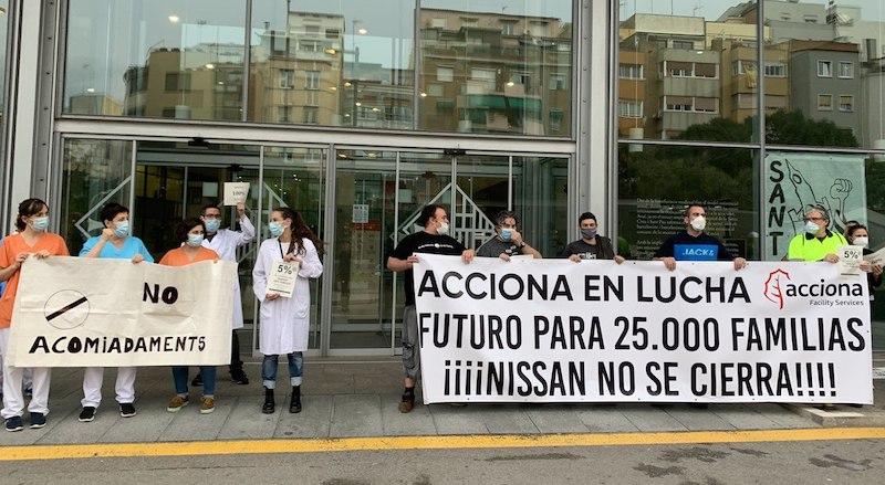 """Solidaritat amb """"Sanitàries en Lluita"""": monitores del lleure, Acciona i serveis socials"""