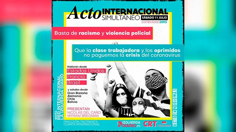 [En directe] Acte internacional simultani: Prou racisme i violència policial!