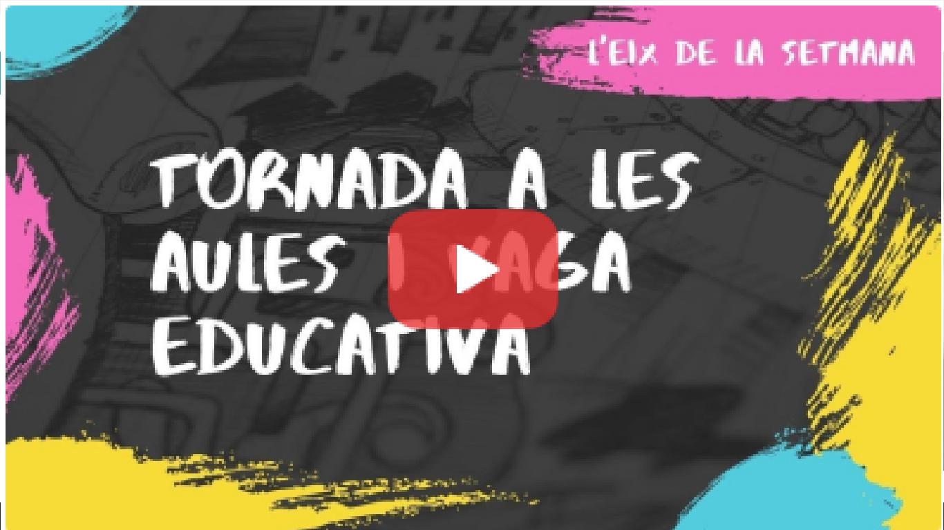 L'eix de la setmana: Tornada a l'Escola sense massa respostes