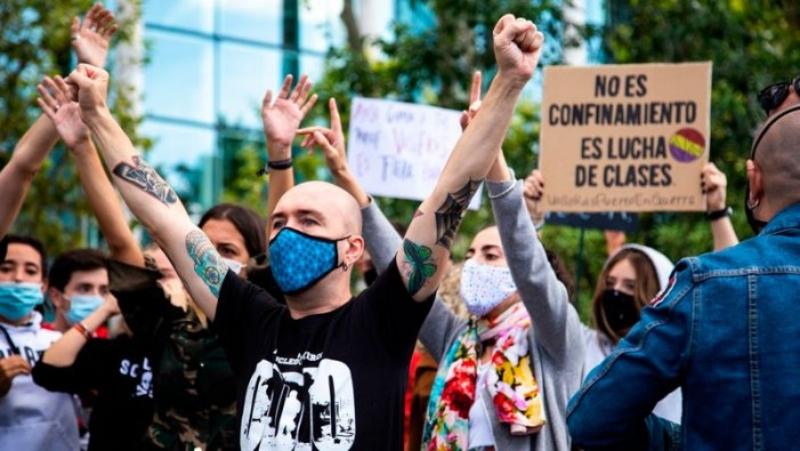 El jovent de ContraCorrent es solidaritza amb els barris obrers de Madrid