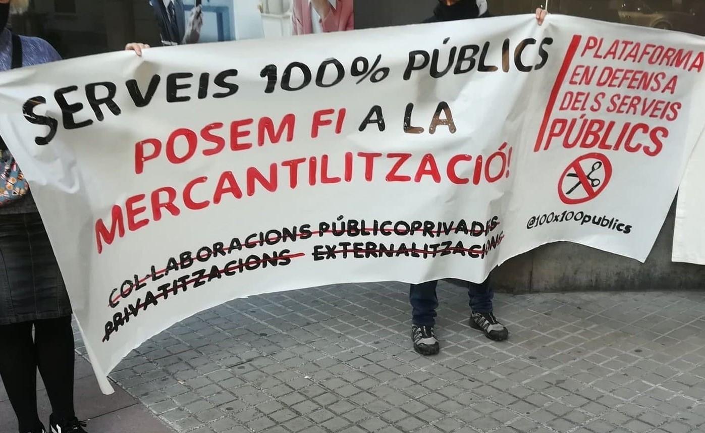 """""""Per la municipalització del SAD, contra la mercantilització dels serveis públics"""""""