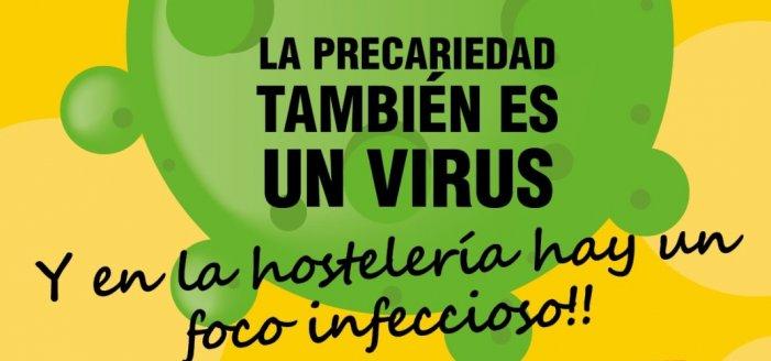 Acabem amb el virus de la precarietat en l'hostaleria i el delivery. Organitza't i lluita! Que aquesta crisi la paguin els capitalistes!