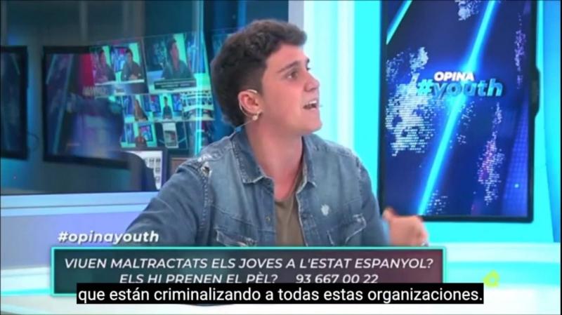 """Pablo Castilla: """"No condemno, no penso posar-me en el mateix costat dels qui estan criminalitzant a la joventut"""""""