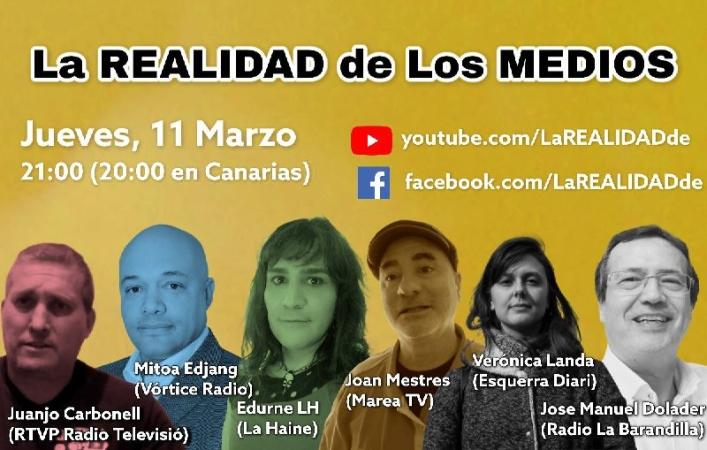 Verónica Landa d'Esquerra Diari parla al programa 'La Realidad de los Medios'