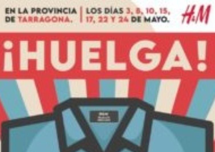 Treballadores d'H&M a Tarragona en vaga pels seus drets!!