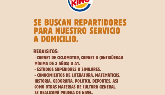 "La vergonyosa ""oferta de treball"" de Burger King"