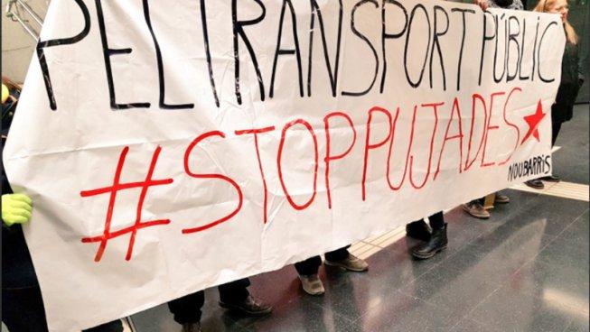 """""""Aquesta pujada no la paguem"""": Segona jornada d'accions de #StopPujadesTransport"""