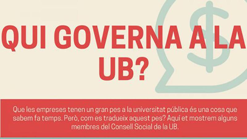 Qui governa en la Universitat de Barcelona?