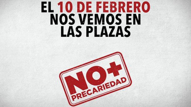 """La plataforma """"NO + PRECARIEDAD"""" es presenta el 10-F contra la Reforma laboral"""